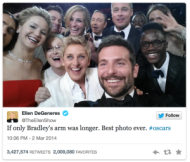 The Selfie Obsession: Did Samsung Go Too Far? image Ellen DeGeneres Selfie