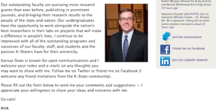 @KState Pres: A University President Who Gets Social Media image KirkSchultz Webpage