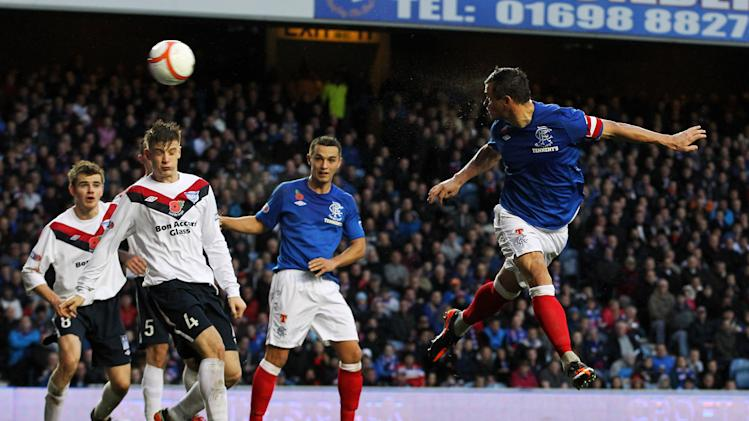 Lee McCulloch scores the opener for Rangers