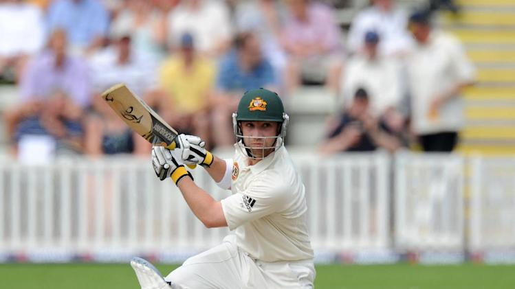 Phillip Hughes, pictured, combined with Daryl Mitchell to give Worcestershire a stronger start