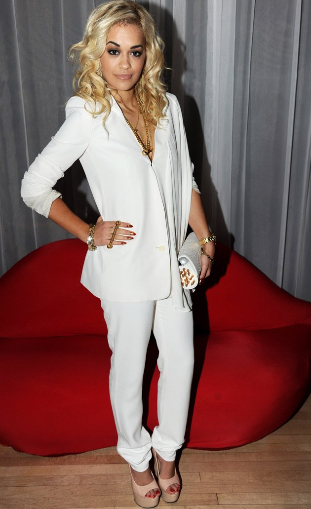 Rita Ora, trouser suit