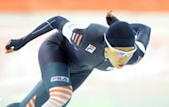 South Korea's Lee Sang-Hwa competes in the women's speed skating 500m at the Adler Arena during the 2014 Sochi Winter Olympics on February 11, 2014