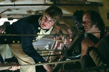 Max Benitz as midshipman Calamy in 20th Century Fox's Master and Commander: The Far Side of The World