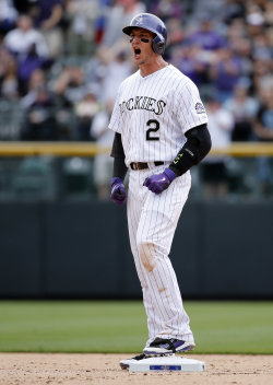 Troy Tulowitzki is hitting .303 with two home runs this season. (AP)