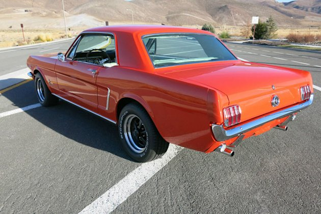 First generation Mustang rear photo