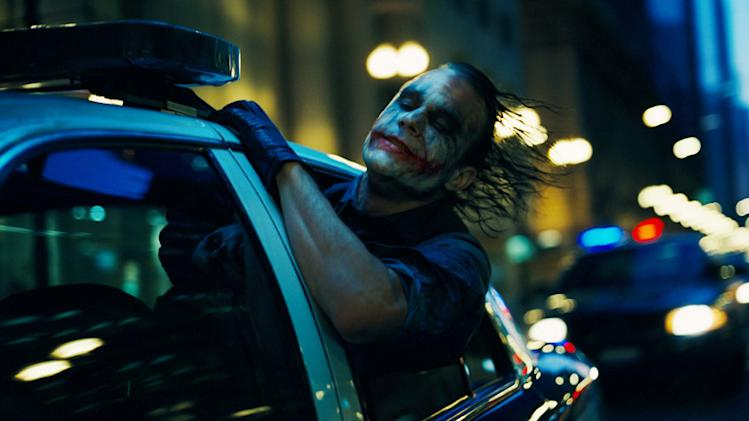 Heath Ledger Batman The Dark Knight Production Warner Brothers 2008