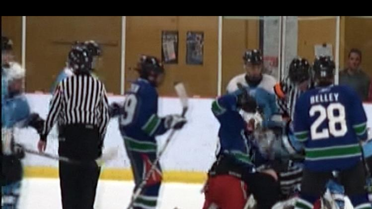 Quebec minor hockey brawl between the Chicoutimi Cougars and Jonquière Pumas