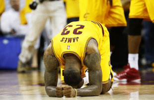 LeBron James had just enough in the tank to finish off the Hawks in Game 3. (Getty Images)