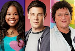 Amber Riley, Cory Monteith, Dot Marie Jones   Photo Credits: Tommy Garcia/FOX (2); Frank Micelotta/PictureGroup