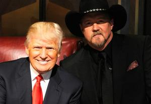 Donald Trump, Trace Adkins | Photo Credits: Virginia Sherwood/NBC