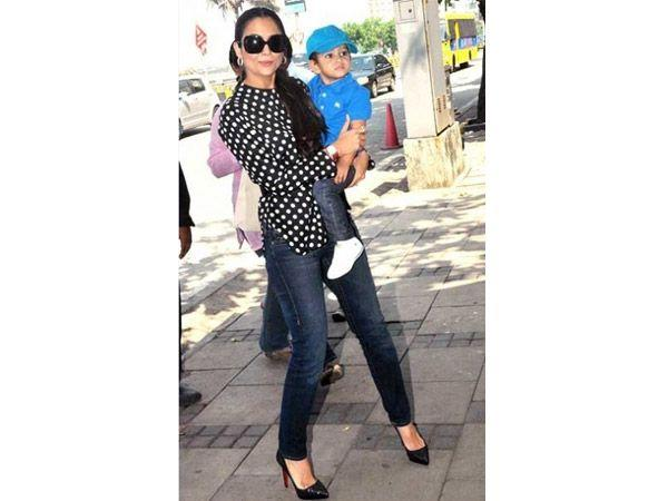 Image courtesy : iDiva.comNames: Azaan and Rayaan Parents: Amrita Arora and Shakeel Ladakh Meaning: The baby name Azaan means powerful and Rayaan means door to paradise.Related Articles - Top 10 Weird