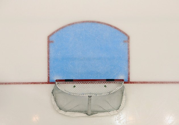 UNIONDALE, NY - OCTOBER 21: A hockey net sits unoccupied during the game between the New York Islanders and the Toronto Maple Leafs at the Nassau Veterans Memorial Coliseum on October 21, 2014 in Uniondale, New York. The Leafs defeated the Islanders 5-2. (Photo by Bruce Bennett/Getty Images)
