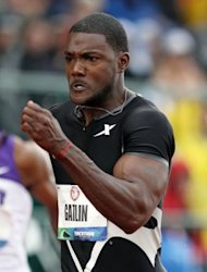 US sprint heavyweights Tyson Gay and Justin Gatlin (pictured on June 23) will go head-to-head in the Diamond League meeting on Friday, with home hope Christophe Lemaitre also hoping to show his form ahead of the fast-approaching London Olympics