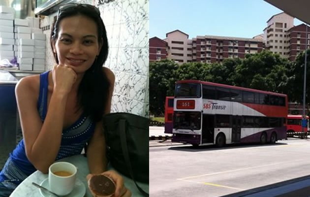 Leona Lo was walking from Bedok Temporary Interchange to the MRT station when she was verbally abused by a SBS Transit driver. (Photo courtesy of Leona Lo/Yahoo! file photo)