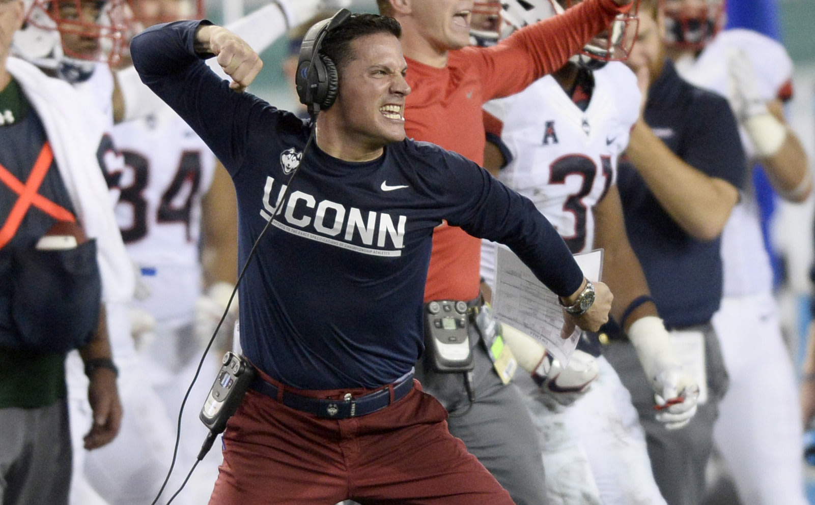 Bob Diaco was fired after three seasons at UConn. (Getty)