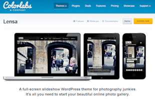 10 Best Wordpress Themes in 2013 for Photographers image Lensa5