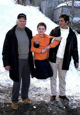 Bruce Dern, Jake Lloyd and James Caviezel of Madison Sundance Film Festival 1/23/2001