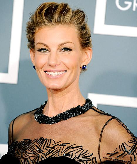 Faith Hill Wears Braces at Grammys 2013