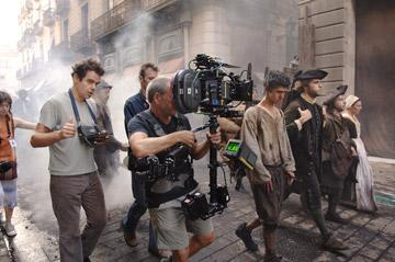 Director Tom Tykwer and Ben Whishaw on the set of Dreamworks' Perfume: The Story of a Murderer