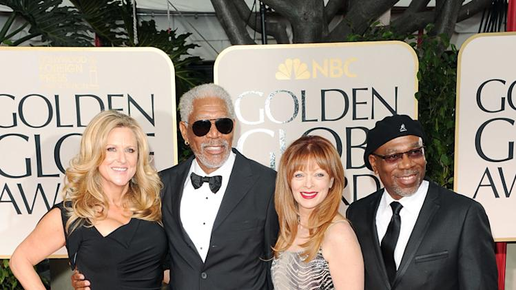 Lori McCreary, Morgan Freeman, Larcenia Letice and Alfonso Freeman
