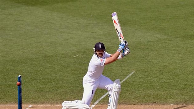 Matt Prior top-scored with 72 for England
