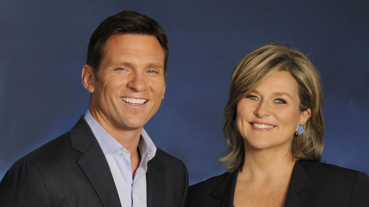 "This May 2013 publicity image released by ABC shows Bill weir, left, and Cynthia McFadden, of the news magazine show ""The Lookout,"" in New York. ""The Lookout"" emphasizes consumer issues with a mix of investigative and trend stories, striving for a hip look that breaks down walls with viewers. (AP Photo/ABC, Donna Svennevik)"