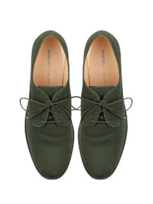 Menswear Flats - Lace Up Oxford