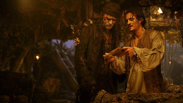Pirates of the Caribbean Dead Man's Chest 2006 Walt Disney Pictures Stellan Skarsgard Orlando Bloom
