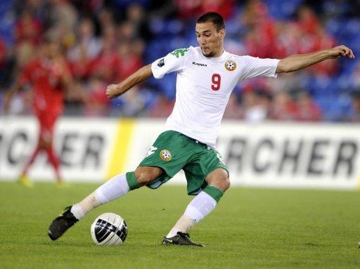 Bulgaria's forward Ivelin Popov