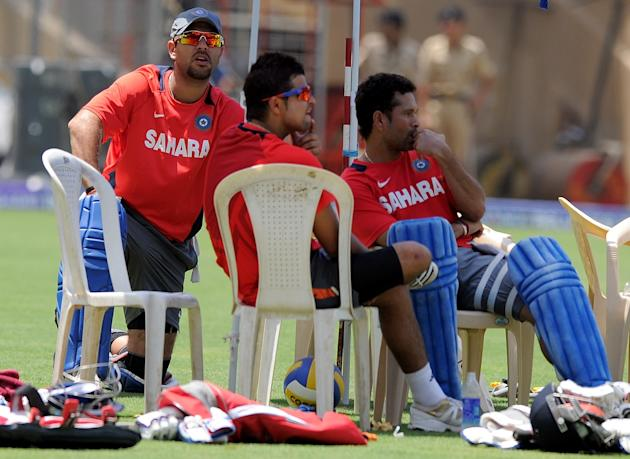 Indian cricketers Yuvraj Singh (L), Sure