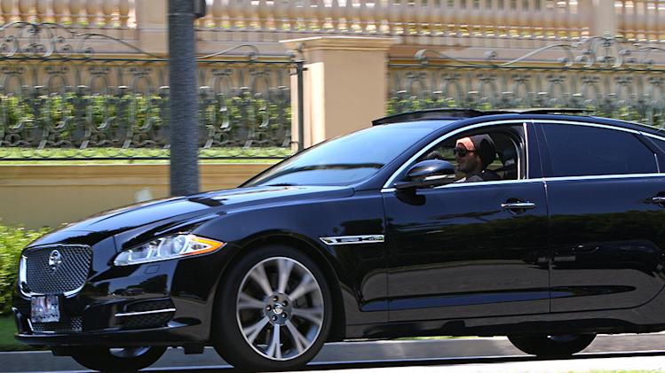 David Beckham Takes His Jaguar Out For a Spin