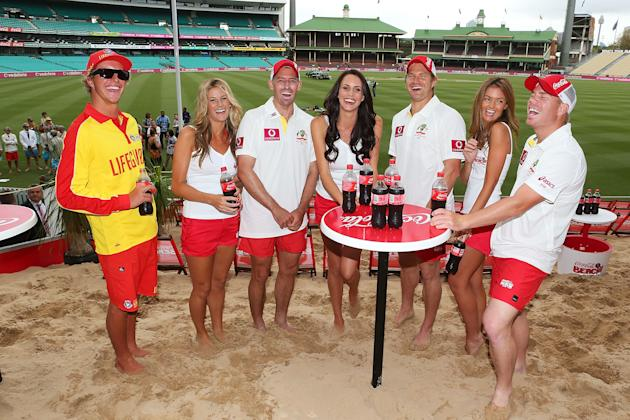 Coca-Cola Beach At the Cricket Launch