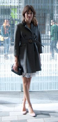 Alexa Chung does ladylike layers at LFW for Christopher Kane SS13