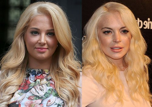 Tulisa Contostavlos Dyes Her Hair Blonde - Has She Copied Lindsay Lohan's Courtroom Makeover?