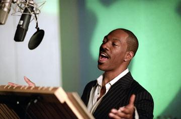 Eddie Murphy records the voice of Donkey in Dreamworks' Shrek 2