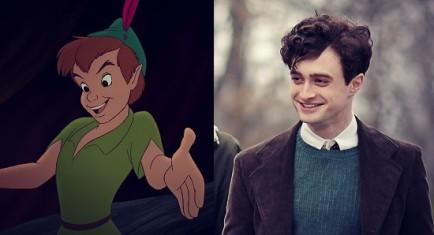 Peter Pan and Daniel Radcliffe