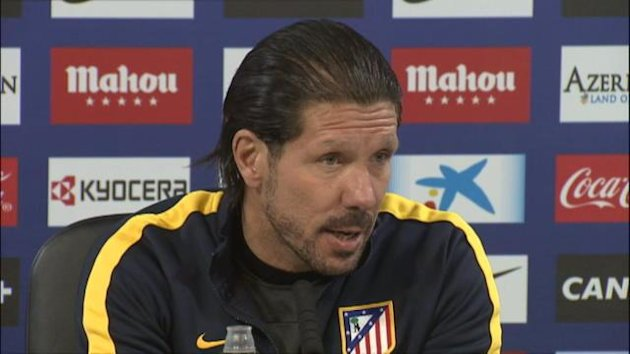 Atletico Madrid head coach Diego Simeone concedes his team are underdogs for their Copa del Ray sem-final with Real Madrid