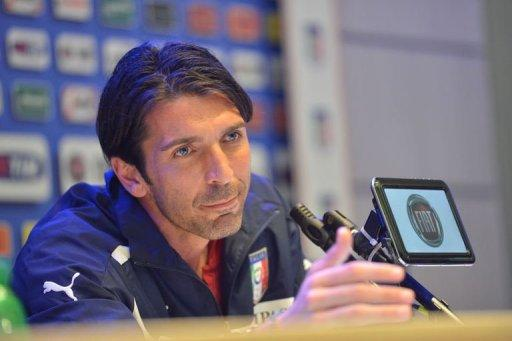 Italy's goalkeeper Gianluigi Buffon