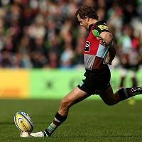 Nick Evans converted once, kicked four penalties and scored a drop goal for Harlequins
