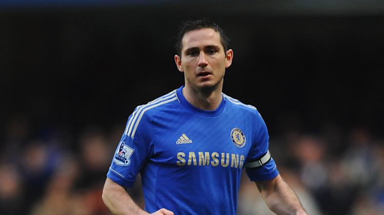 Frank Lampard of Chelsea in action during the Barclays Premier League match between Chelsea and Wigan Athletic at Stamford Bridge on February 9, 2013 in London, England. (Photo by Laurence Griffiths/Getty Images)