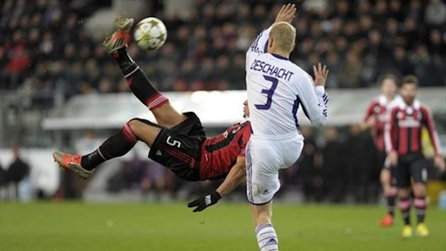 2012/13 Champions League Anderlecht-Milan Mexes - Reuters