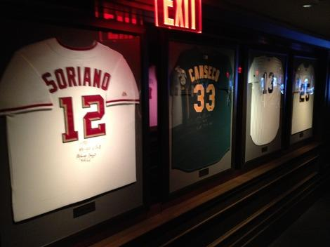 Impressive Sports Memorabilia at Jay Z's 40/40 Club