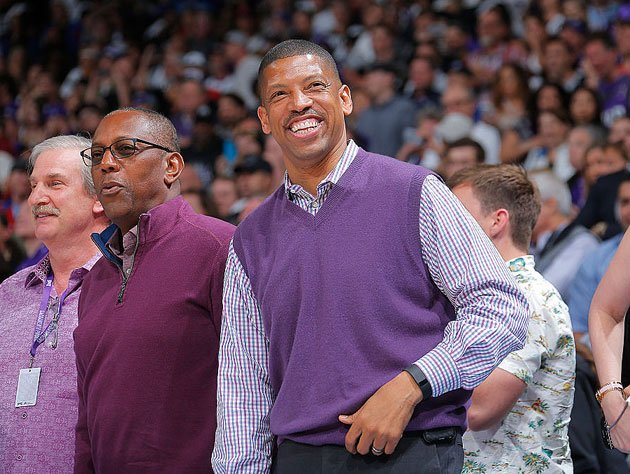 Kevin Johnson wears the purple. (Getty Images)