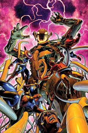 "This image provided by Marvel Comics shows cover art from ""Age of Ultron"" No. 10. Written by Neil Gaiman. Photo courtesy of Marvel & AP."