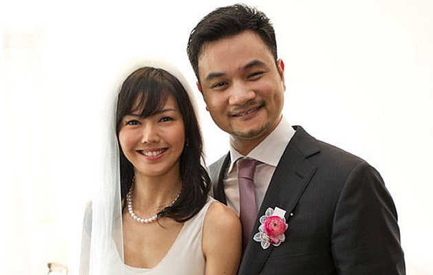 Singer Stefanie Sun and husband Nadim van der Ross at their May 2011 wedding (Photo courtesy of Stefanie Sun)