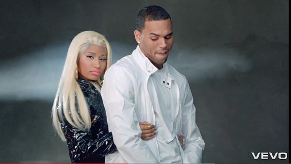 Chris Brown Mocks Rihanna With Sexy Nicki Minaj Video