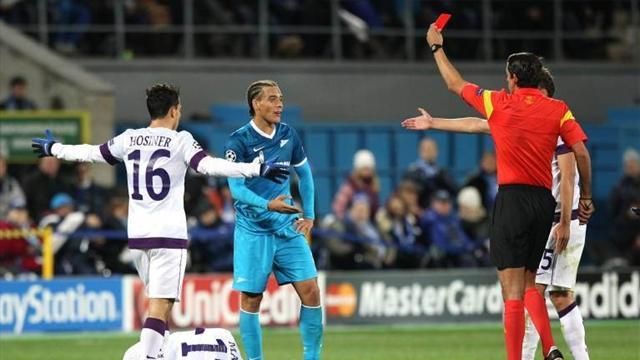 Champions League - Witsel sees red but 10-man Zenit draw with Vienna