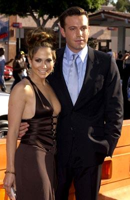 Jennifer Lopez and Ben Affleck at the LA premiere of Gigli
