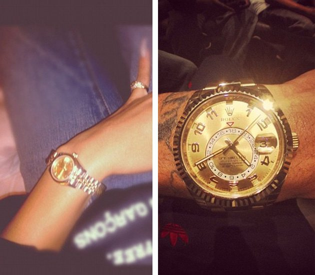 Chris Brown and Rihanna now have matching Rolexes