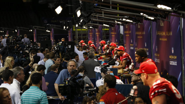 NFL: Super Bowl XLVII-San Francisco 49ers Media Day